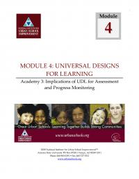 Universal Designs for Learning Academy 3 - Implications of UDL for Assessment and Progress Monitoring (FM)