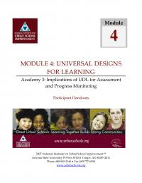 Universal Designs for Learning Academy 3 - Implications of UDL for Assessment and Progress Monitoring (PHs)