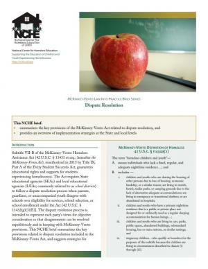 McKinney-Vento Law into Practice Brief Series: Dispute Resolution