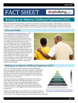 Bullying as an Adverse Childhood Experience (ACE)