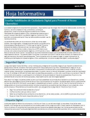 Teach Digital Citizenship Skills to Prevent Cyberbullying_Spanish
