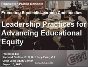 Leadership Practices for Advancing Educational Equity