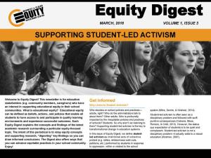 Supporting Student-Lead Activism