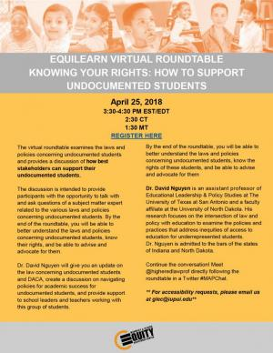 Knowing your rights: How to support undocumented students