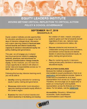 Equity Leaders Institute