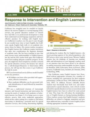 Response to Intervention and English Learners