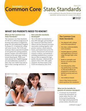 Common Core State Standards: What do parents need to know?