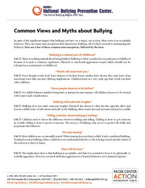 Common Views and Myths about Bullying