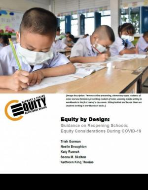 Guidance on Reopening Schools: Equity Considerations During COVID-19