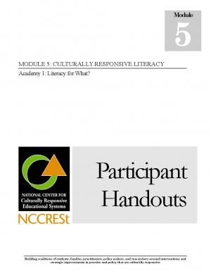 Culturally Responsive Literacy Academy 1 - Literacy for What? - HANDOUTS