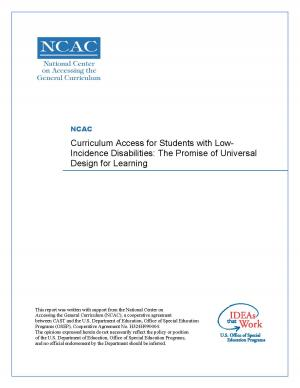 Curriculum Access for students in Low-incidence disabilities: The Promise of Universal Design for Learning