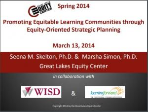 Promoting Equitable Learning Communities via Equity Oriented Strategic Planning